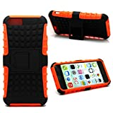 Accessory Master Coque Hybride Antichoc pour iPhone 5C Noir/Orange