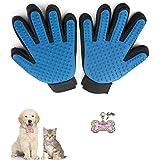 Haustier Haarentfernung Mitts Hund Katze Pflege Handschuh, Haarentferner Pinsel, True Touch Shedding Haar Aufräumen mit Pet Anti-verlorene Tag von Standard (Links und rechts)