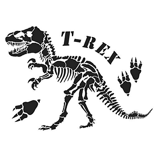 Ideen mit Herz Laser-Kunststoff-Schablone, DIN A4 | perfekt geeignet für Textilgestaltung, Wandgestaltung, Fenster, Papier, Scrapbooking, Kinder, Basteln, DIY (Dinosaurier/T-Rex)