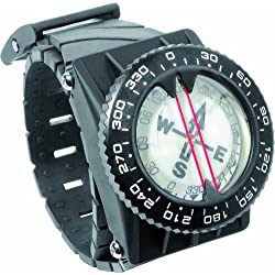 Cressi Compass - Boussole de Plongée avec Kit de Fixation