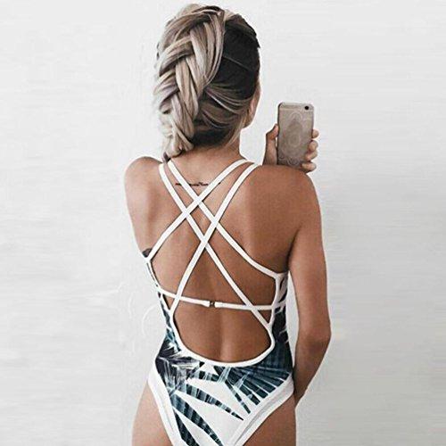 Costumi Da Bagno Donna, Dorame Bikini Da Bagno Interi Da Donna In Puro Cotone Backless Bianca
