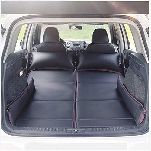 LYXQXQ Auto-Hintere Reihen-Matratze, Nicht Aufblasbares Bett- / Luftbett- / Hinteres Reisebett- / Auto-Erwachsen-Isomatte/Klappbett,Schwarz