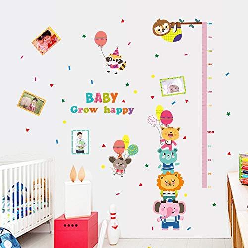 XCGZ Stickers muraux 1 Pc Grande Taille 107 * 136 Cm Bébé Grandir Heureux Vinyle Hauteur Stickers Muraux pour Enfants Enfants Chambre Décor De Pépinière Stickers Affiche