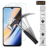 ANKENGS [2 Pack] OnePlus 6T Screen Protector, Oneplus 6T Premium Tempered Glass Screen Protector, [Full Coverage] [Bubble Free] [2.5D] [9H] Screen Protector for OnePlus 6T/OPPO F9 (6.4)