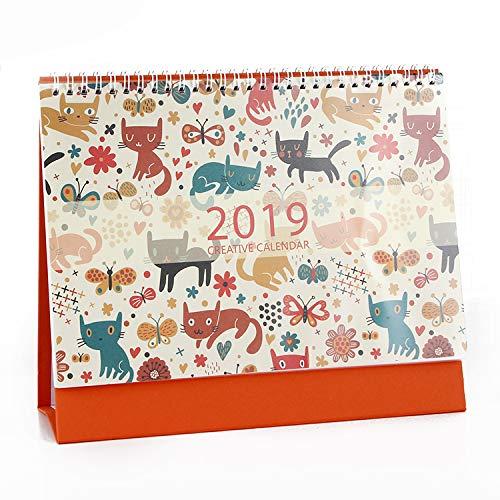olpchee Animal Design Desktop Kalender Juli 2018bis Dezember 2019mit Ständer für Home Office Cat 1 (Desktop-kalender 2015)