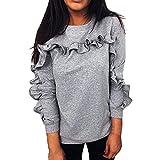 ♫♫ Amlaiworld Herbst Frühling niedlich Sweatshirt Outdoor weich Freizeit Langarmshirts locker Mode Gemütlich Pullover Damen Fitnesss Coole pullis
