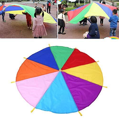 hemicala Kinder Spielen Zelten Fallschirm mit 8 Griffen für Indoor Outdoor, 2M