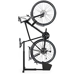 EASYmaxx Rueda Trasera Soporte Bicicleta Soporte para casa y sótano de Acero
