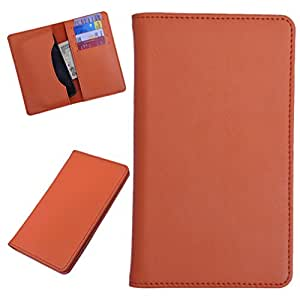 DCR Pu Leather case cover for Karbonn A21+ (orange)