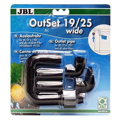JBL OutSet wide 6023200 Wasserrücklauf-Set mit Breitstrahlrohr für Außenfilter von Aquarien
