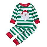 Togelei Neugeborenen Baby Jungen Mädchen Streifen Weihnachtsmann Tops Shirt + Print Hosen Outfits Sets Unisex Langarm Baumwolle Fashion Print Kinder Kleidung Weiß cute Casual Home Set