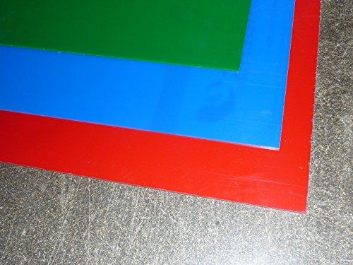 Platte Plexiglas GS, 500 x 500 x 3 mm, blau getönt Zuschnitt Acrylglas GS - 2