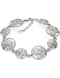 LillyMarie Damen Silberarmband Silber 925 Original Swarovski Elements  Schmetterling Länge Flexibel Hochwertiges Etui aus Holz… affe29462d