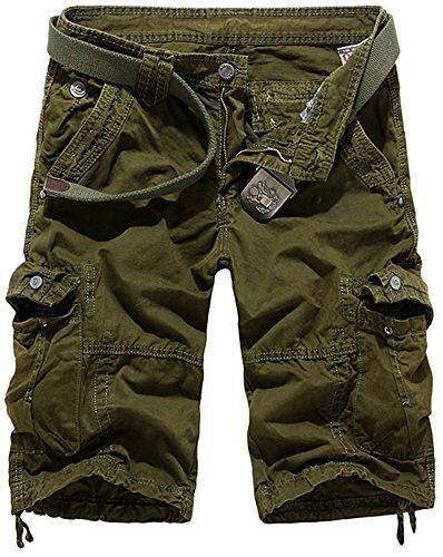 Fashciaga -  Pantaloncini  - Uomo ArmyGreen
