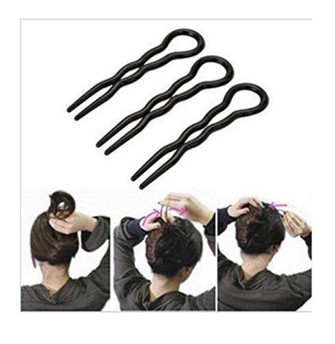 Drei Licht-spirale (3MAGIC leicht zu FAS Licht Spirale Haar Zopf Twist Zubehör-Haar Tail Styling Maker Werkzeug für Mädchen Lady 9* 2.2cm)