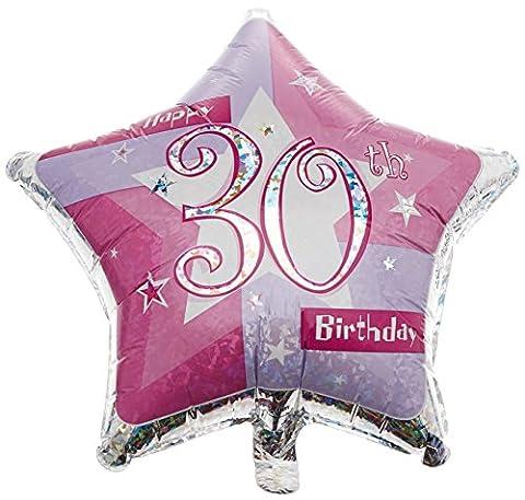 Amscan International Rosa Schimmernd 19Happy 30. Geburtstag Folienballon