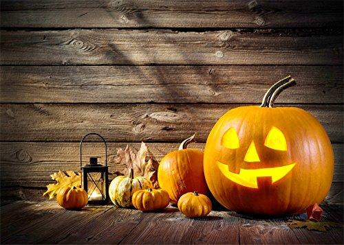 grund für Halloween, Kürbis-Lampen, Sonnenschein, Vintage, rustikale Streifen, Holzboden, Herbst, Ernte, Hintergrund für Kinder und Erwachsene, Fotostudio-Requisiten ()