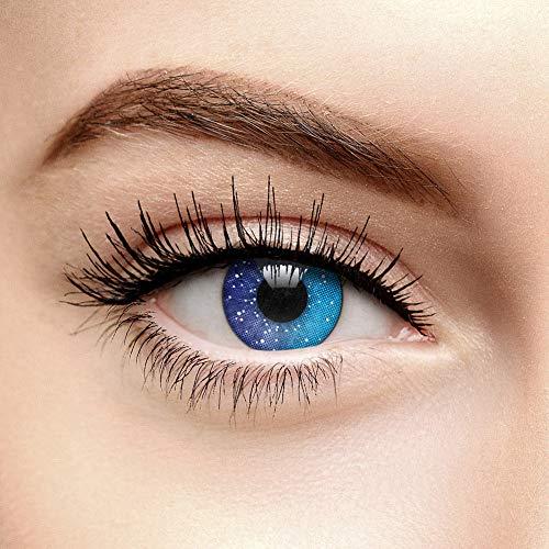 Coloured Contacts Galaxy Farbige Kontaktlinsen Ohne Stärke Blau (90 Tage)