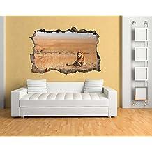 XXL (1,80m) pared pegatinas el rey de la Sabana en efecto 3d para un fantástico efecto pared adhesivo bs1648