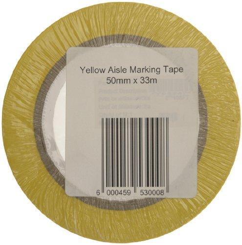 Signs & Labels FBLW1 - Nastro adesivo per segnaletica orizzontale, 50 mm x 33 m, colore: Giallo