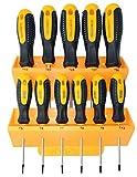 SCT11P Juego de Destornilladores Torx de 11 Piezas, Set de Destornilladores estrella de T5 a T30 con Soporte de Pared