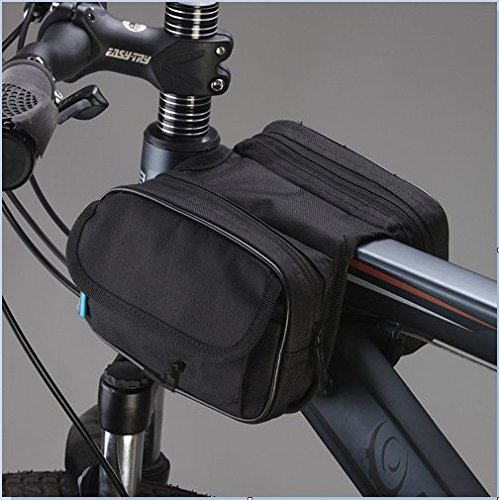 LWJgsa Fahrrad Tasche Für Front Und Mountain Bike. Black