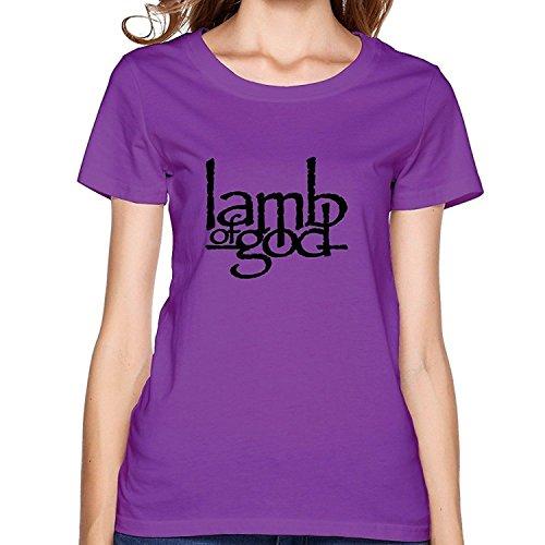 Female Classic Organic Cotton Lamb Of God T-shirts XXLarge