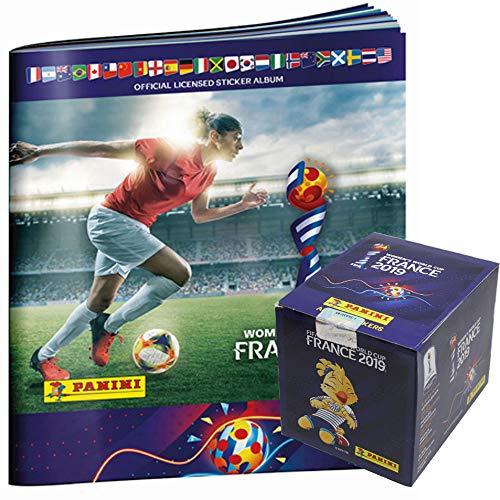 Unbekannt Panini Frauen WM 2019 - Sammelsticker - 1 Display (50 Tüten) + 1 Album (Fußball-wm-sticker)
