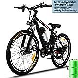 Begorey - Mountain bike elettrica da ca. 66 cm, batteria al litio, Double Layer, ruote in lega di alluminio, velocità 25–35km/h, Uomo, Typ_1