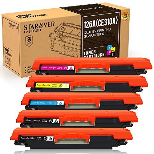 STAROVER 5x 126A (CE310A CE313A) Cartuchos De Tóner Compatible Para HP LaserJet Pro 100 color MFP M175 M175A M175nw M275 M275NW MFP CP1020 CP1025 CP1025nw MFP M176 M176FN M177 M177FW Impresora