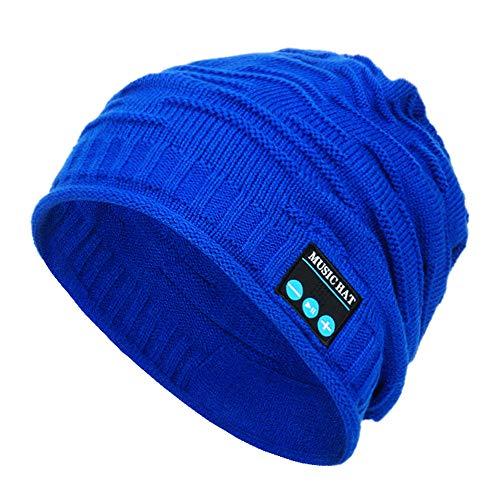 XMoments Unisex-Bluetooth-Headset für drahtlose Musik-Beanie mit Lautsprecher Weiches Langes Slouch Beanie Hüte & Mützen Warm Stricken Kappe Klassisches Kopfkappe Strickmütze Skimütze
