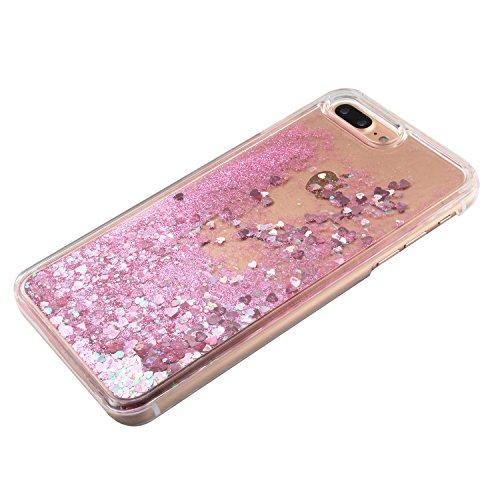 TOYYM - Cover per iPhone 7Plus 5,5, trasparente con brillantini e liquido, include 1 pellicola protettiva e 1pennino capacitivo, plastica, Color 27#, Apple iPhone 7 Plus 5.5 Color 12#
