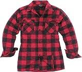 Mil-Tec Outdoor - Camisa de leñador del ejército alemán, color negro/rojo, todo el año, unisex, color negro - blanco/rojo, tamaño XL