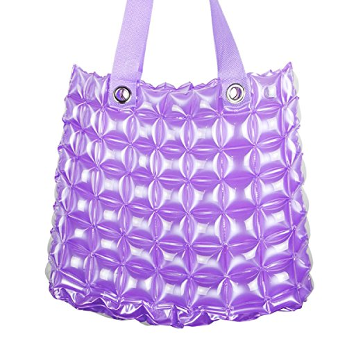 PVC Sacca Gonfiabile Spiaggia Shopping Donne Colore Della Caramella Impermeabili Portatili Borse Per La Spesa Purple
