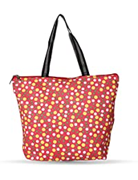 LadyBugBag Fancy Multicolor Printed Tote Bag For Women-LBB10370