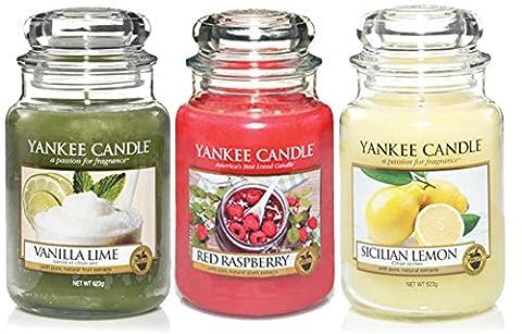 Offizielles Yankee Candle Fruit Favourites Set von 3Classic Signature Große