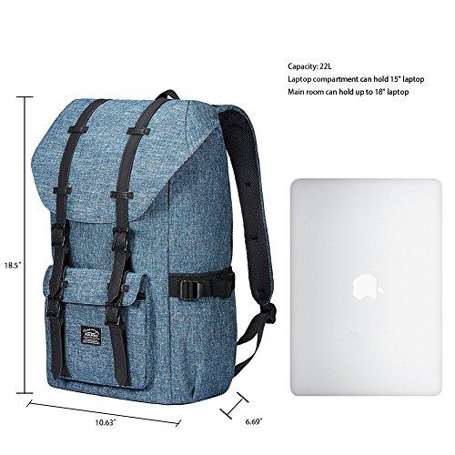 KAUKKO Zaino nuovo modello con 2 Tasche Laterali Unisex - colore Camouflage Pixel Blu-02