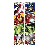 takestop Telo Asciugamano Avengers Disney Bambino CDR_2179 per Bambini Supereroi Hulk Iron Man Captain Multiuso Mare Lettino COPRILETTINO Piscina Spiaggia 70X140 cm Veloce da ASCIUGARE