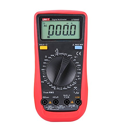UNI-T UT890D - Multimetro RMS digitale e portatile, tester di frequenza REL CA/CC