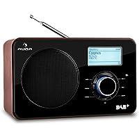 auna Worldwide Internet Radio (sintonizzatore DAB/DAB+, FM/AM, WiFi, USB, AUX, display LCD, telecomando) - legno