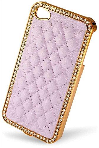 Flexible Silikon-Schutzhülle Bumper für Apple iPhone 4/4G/4GS hohe Qualität Stilvolle Made von E-port24® Luxus Case Lavender / Violett
