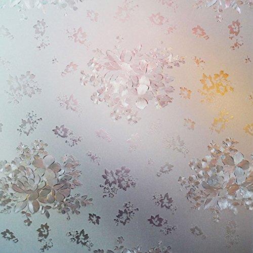 Film autocollant avec filtre opacifiant fleur 3D 100 x 45 cm, PVC, 1, Taille unique