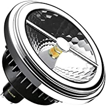 Luxtek AR111 SCOB - Foco LED CREE, blanco cálido, 15 W, 3000K, GU10, 40º, 230 V, 960 lm