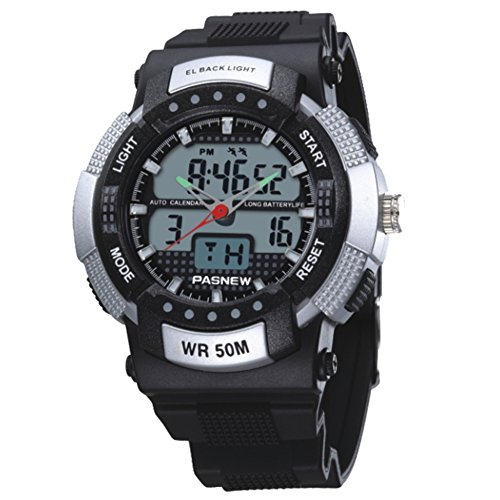 Herren Elektronische Watch,Outdoor Sport Wasserdicht Militärische Watch Studenten Multifunktionale Test Watch-A