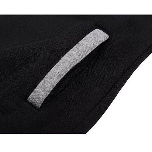 Femme Sweatshirt Chandails Chemise - Juleya Femmes Manteau Chaud Sweat-Shirts en Coton Vestes Pull Capuche Sweat Capuche Sweat-shirt à Capuche Manches Longues Zip Up 7 Couleurs S M L XXL XXXL Black