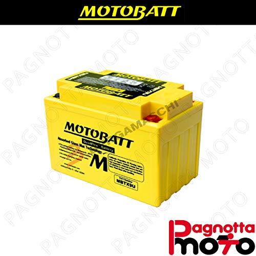 E06031 BATTERIA BATTERY PRECARICATA MOTOBATT MBTX9U KYMCO DOWNTOWN I 125 2009> 12 V 10_5 AH 151 X 87 X 105 MM ACIDO