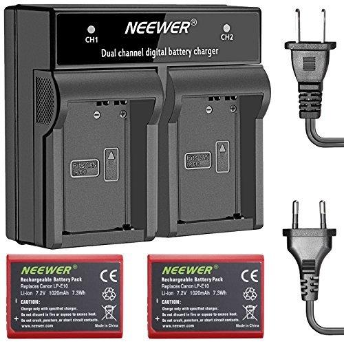 Neewer 2-paquete 1020mAh Reemplazao Batería Li-ion