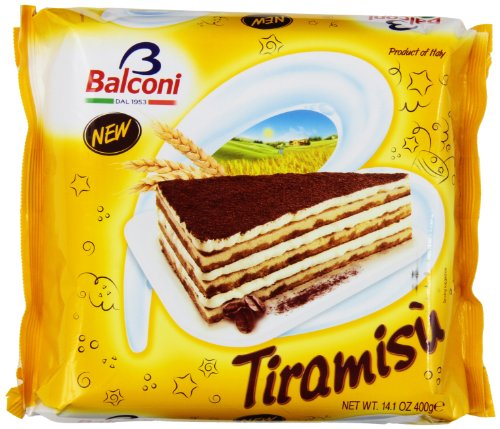 Balconi Cake(Pack of 2 x 400g - Straeberry, Tiramisu)