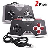 iNNEXT 2x SNES USB Controller SNES Mando Gamepad Joystickde juegos para PC Windows Mac Raspberry Pi NES/SNES Emulator,Negro