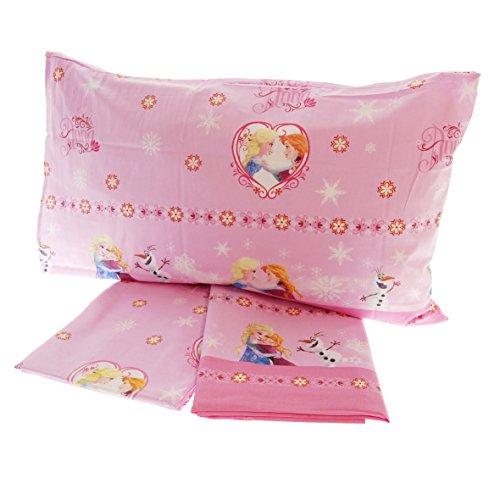 Completo letto disney frozen puro cotone 100% set lenzuola sopra sotto federa